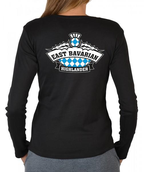 Damen Langarm T-Shirt mit Logo