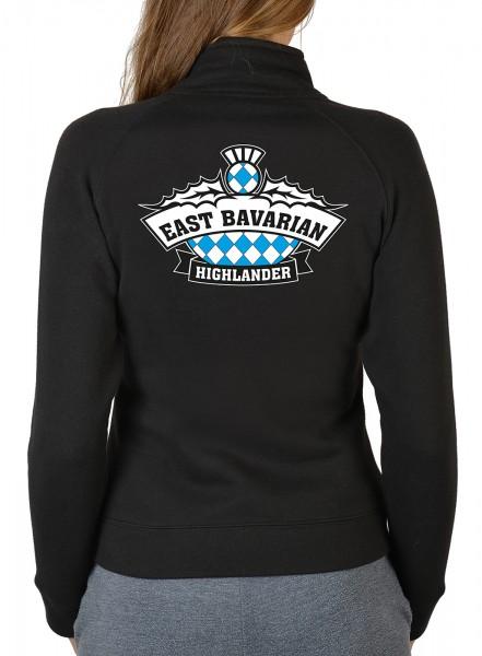 Damen Zip Sweater mit Logo