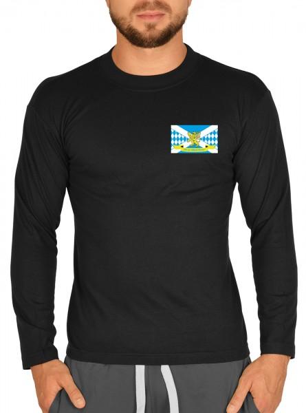 Herren Langarm T-Shirt mit Logo