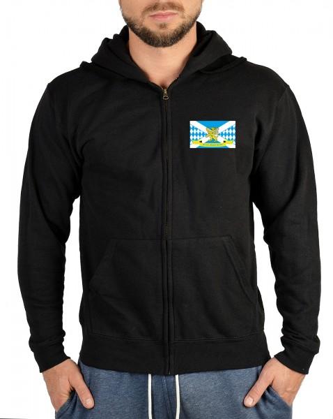 Herren Zip Hoodie mit Logo